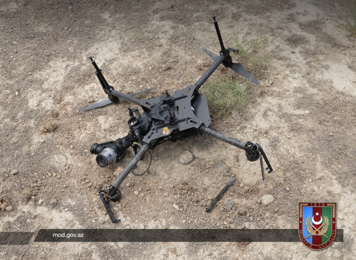 Armenian quadrocopter destroyed - Azerbaijan MoD
