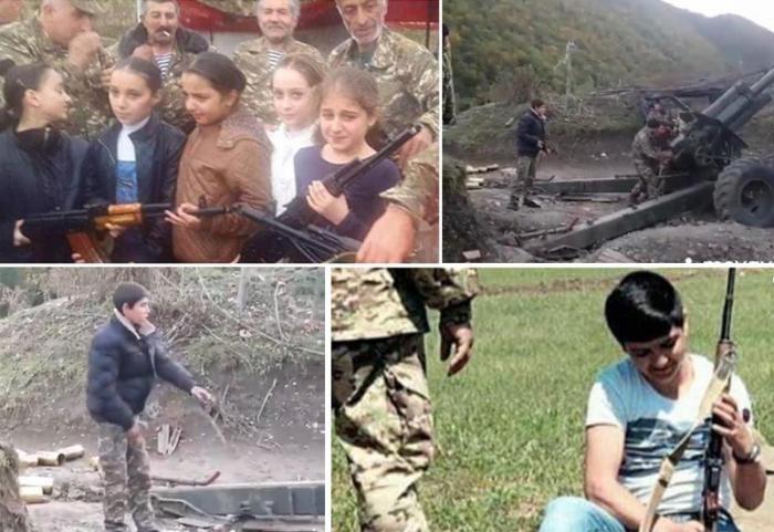 Ermənistanda azyaşlı qızlar döyüşə hazırlanır