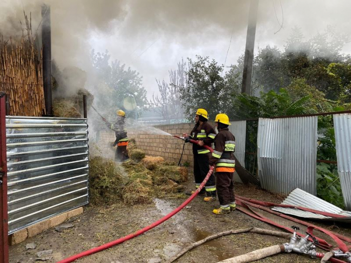 Shelling on the Azerbaijani civilian facilities by the Armenian armed forces causes fires