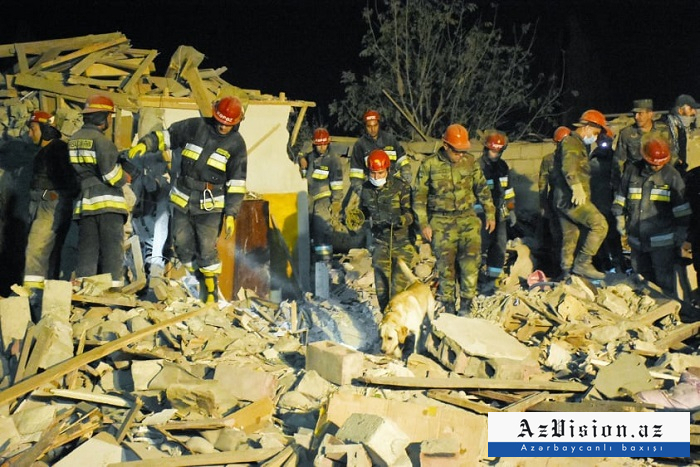Number of houses destroyed by Armenian missile attack on Azerbaijan