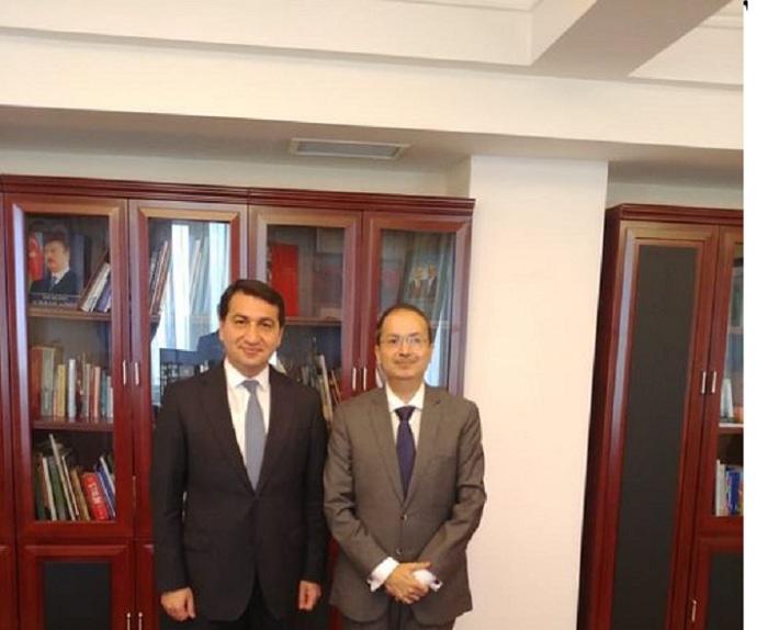 Pakistani Ambassador in Azerbaijan met with Hikmet Hajiyev