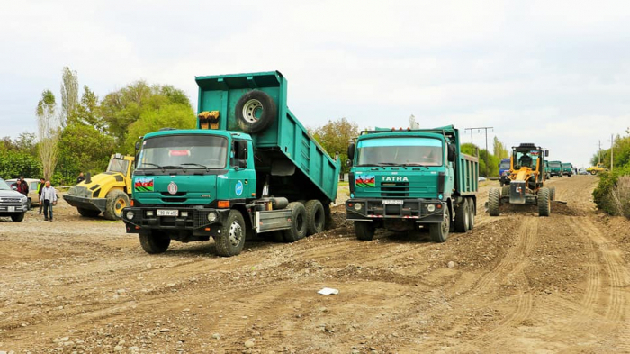 Azerbaijan starts reconstruction of roads in liberated Sugovushan and Talish villages