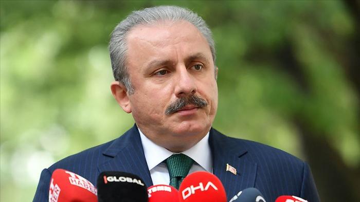 Le président du parlement turc est arrivé à Bakou
