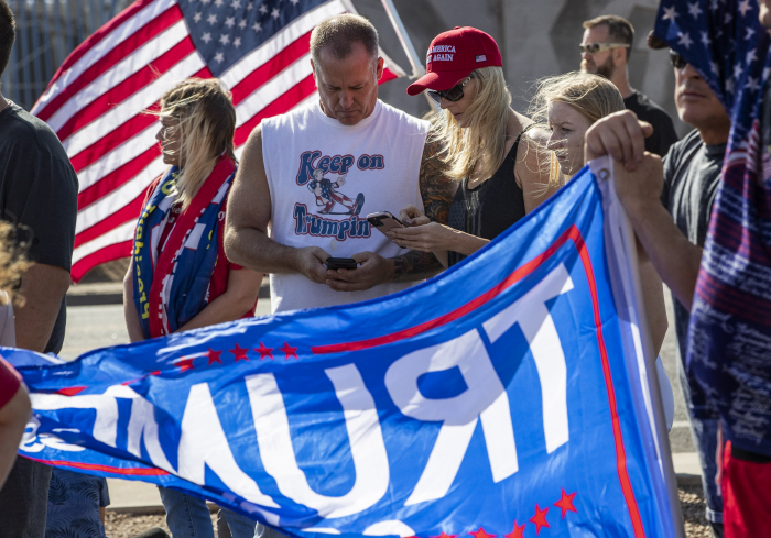 Trump supporters take to the streets as he pushes false election claims