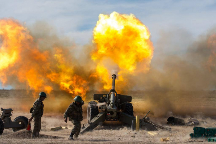 Armenian side continues shelling positions of Azerbaijan Army