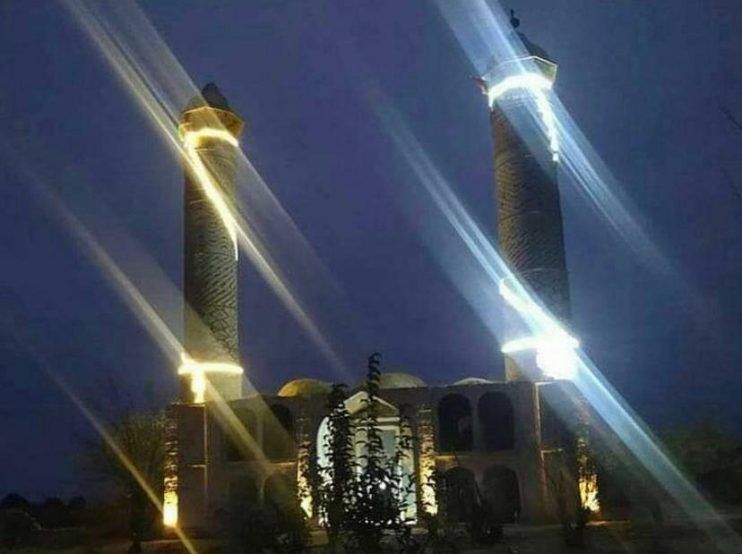 Ağdam məscidi işıqlandırıldı -    FOTO