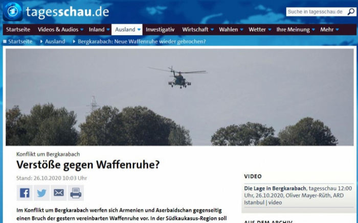 German Tv Channel Broadcasted Reportage On Karabakh
