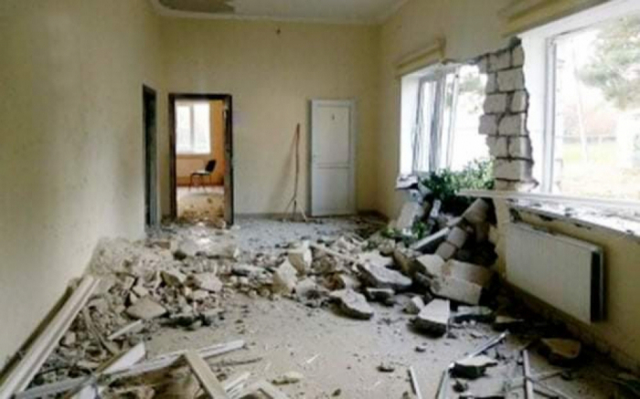 Armenia shells school in Aghdam -  PHOTOS
