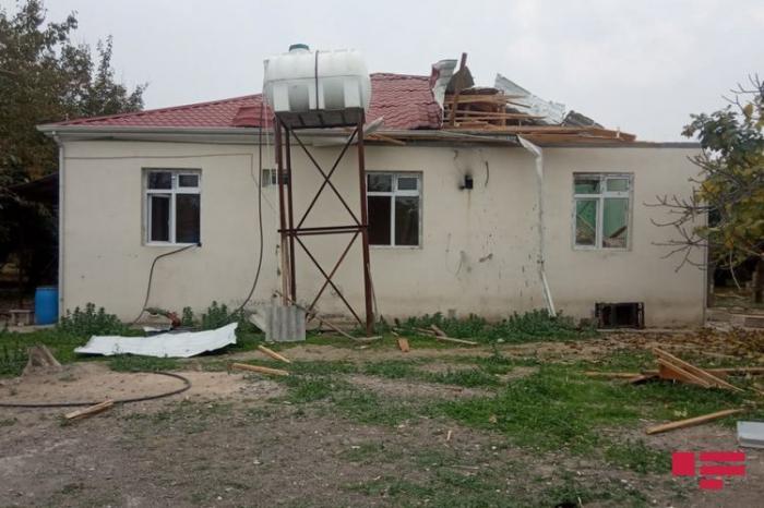 Armenian shells hit a residential building in Agjabadi-  PHOTOS