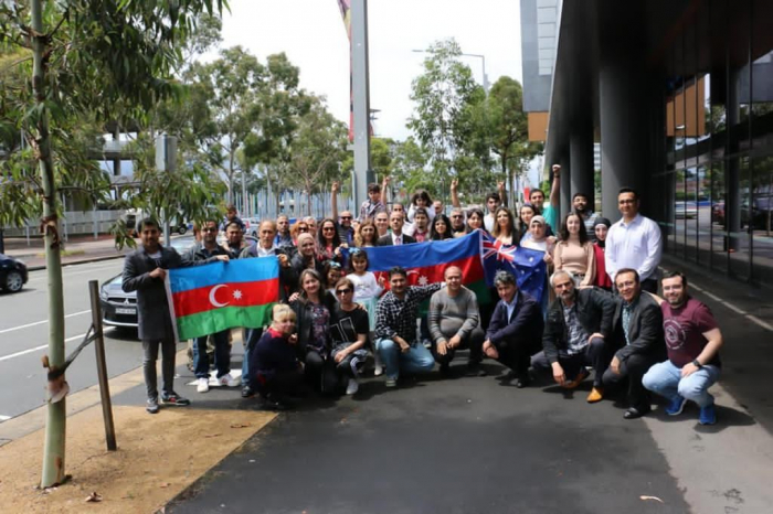Azerbaijanis community holds protests in Sydney -   PHOTO