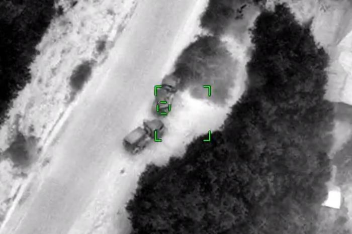 Azerbaijan destroys Armenia's 4 Grad MLRS -   VIDEO