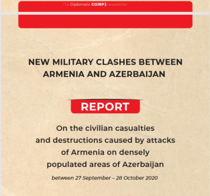 Report of France-based COJEP International on civilian casualties caused by Armenian attacks published in the same journal