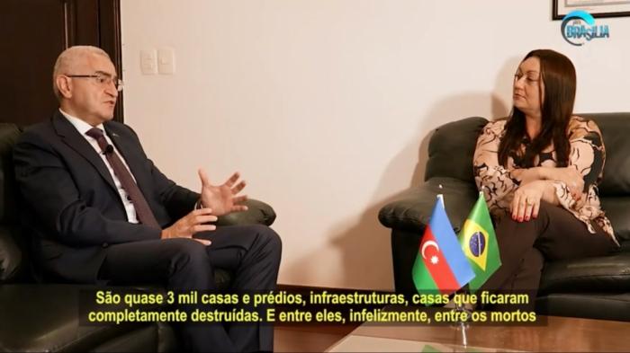 Braziliya telekanalında Qarabağ münaqişəsindən danışıldı
