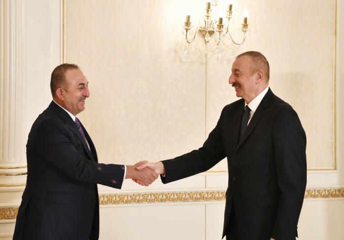Prezident Çavuşoğlu, Hulusi Akar və Hakan Fidanı qəbul etdi