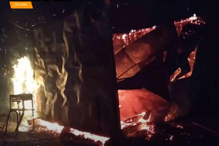 Armenians set fire to houses, stores in Aghdam – VIDEO