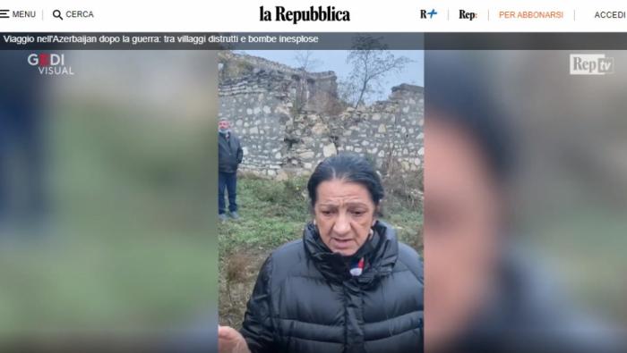 İtaliyanın nüfuzlu nəşri Füzulidən reportaj hazırladı -   VİDEO+FOTOLAR