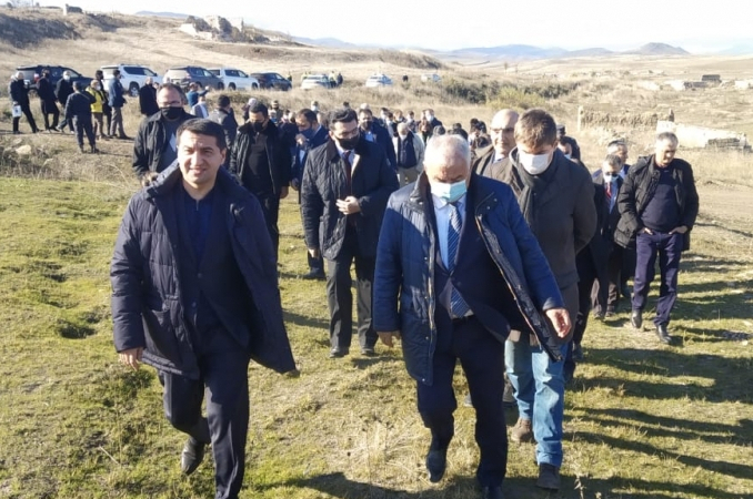 Foreign diplomats witness Armenian vandalism in Azerbaijan's Fuzuli - PHOTO