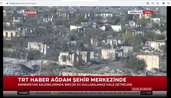 TRT Haber broadcasts video report from Aghdam region