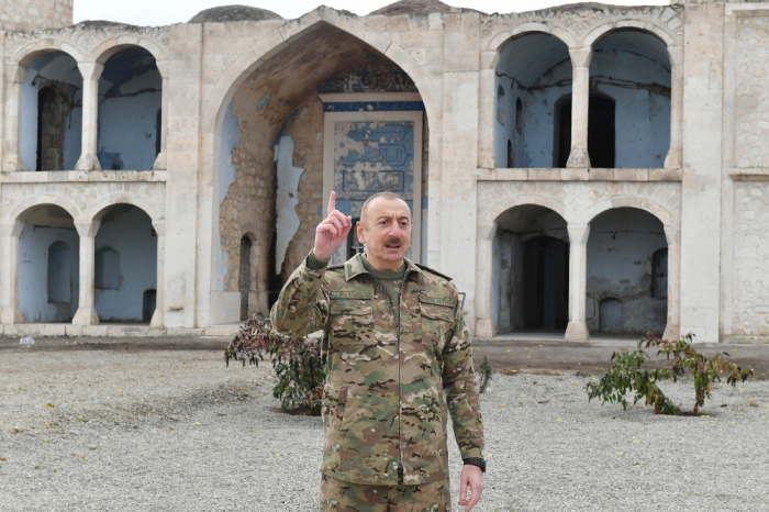 """""""Koçaryan, Sarkisyan diz çökdü bizim qabağımızda"""" -  İlham Əliyev"""