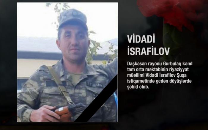 Aserbaidschan:   Ein anderer Lehrer starb für die Freiheit von Karabach