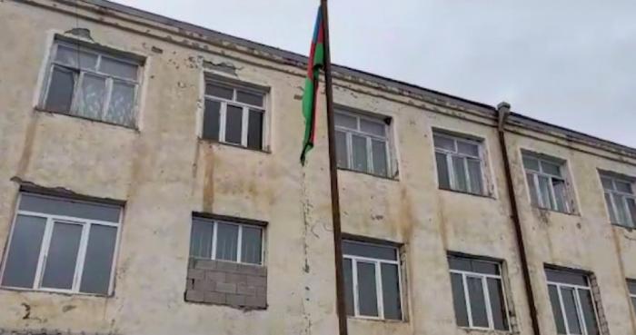 Azerbaijani flag raised in Gulabli village of Aghdam -  PHOTO
