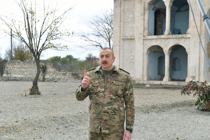 """""""Wir haben unsere historische Mission ehrenvoll erfüllt""""-   Ilham Aliyev"""