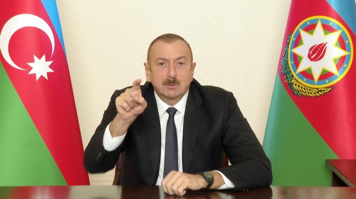 """""""Bizi ittiham etmək istəyən getsin güzgüyə baxsın"""" -  İlham Əliyev"""