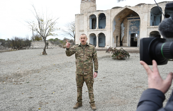 We have destroyed the enemy in an almost hand-to-hand battle - President Aliyev