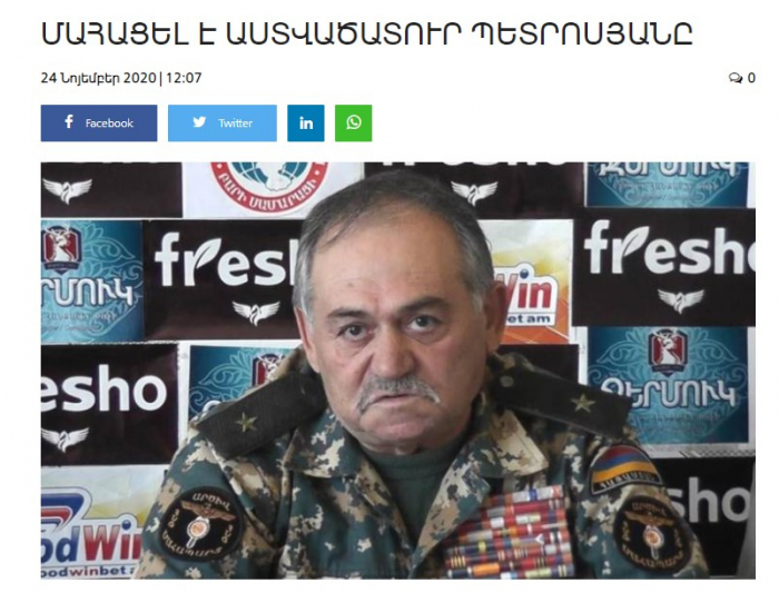 Another bloodthirsty Armenian general dies