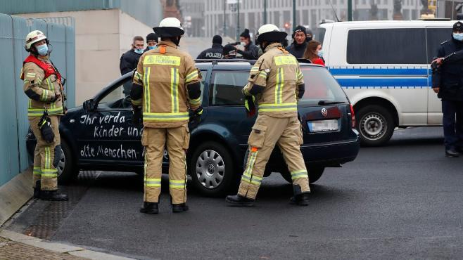 """Bundespressekonferenz nach """"Auto-Attacke"""" auf Kanzleramt"""