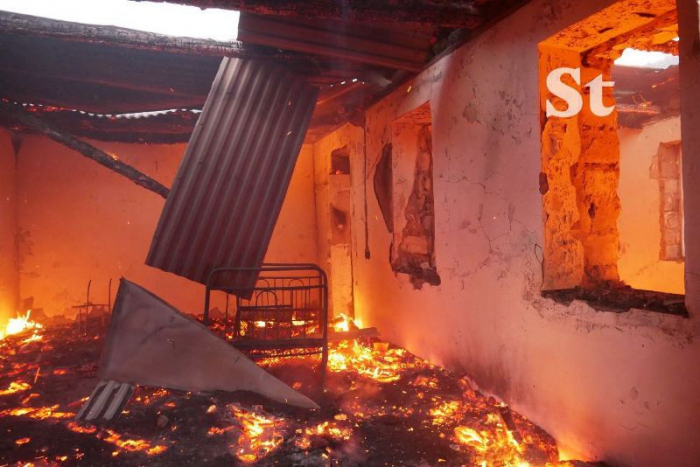Armenians burn down houses in Azerbaijan