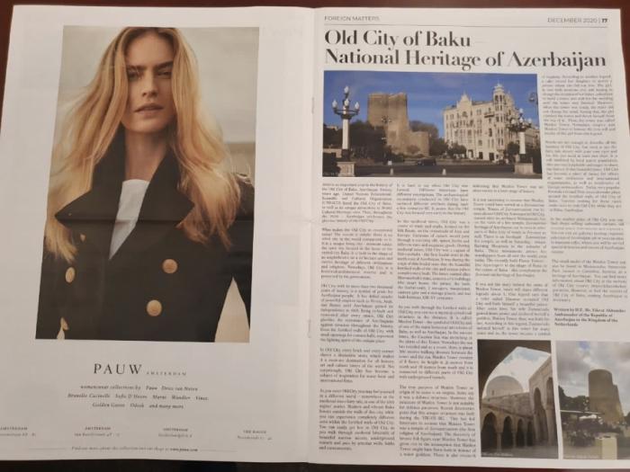 """""""The Holland Times"""" publica un artículo sobre la Ciudad Vieja de Bakú"""