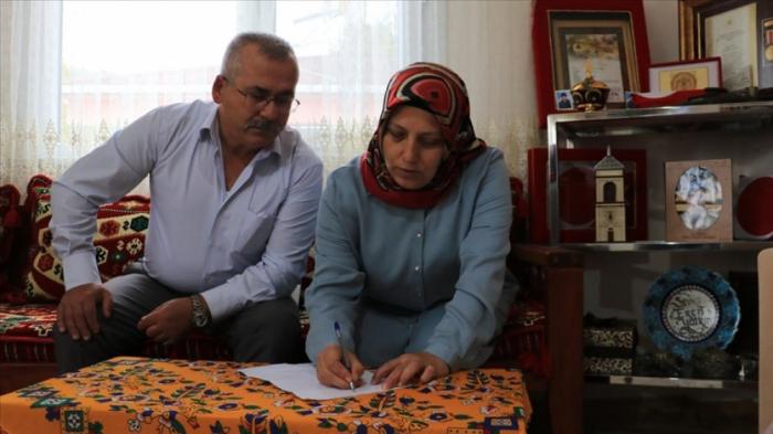 Şəhid ailəsi Azərbaycana dəstək üçün 140 km yol qət etdi
