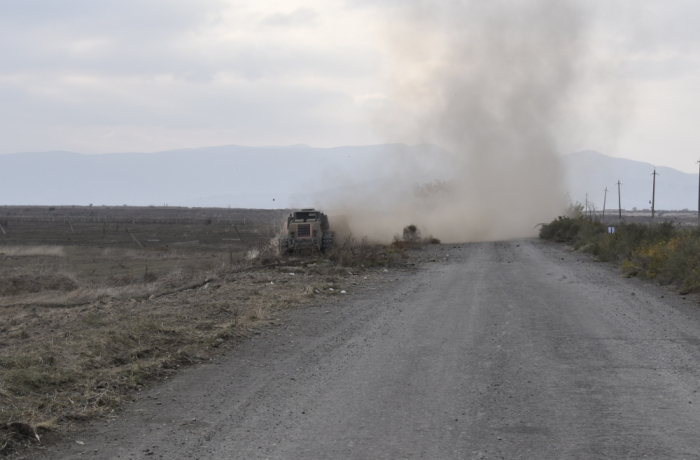 Roads in Aghdam city being cleared of landmines by ANAMA - PHOTOS
