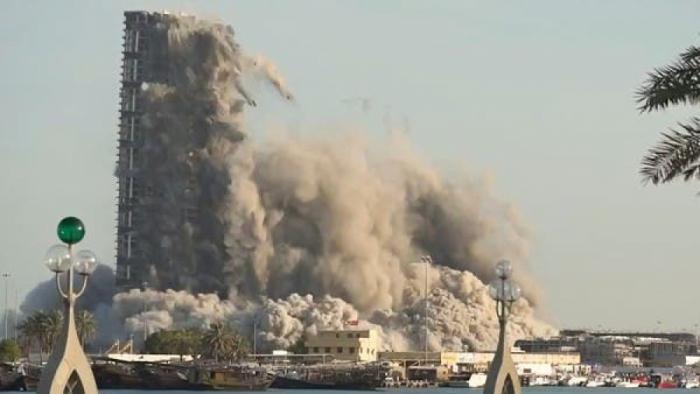 Dünya rekordu:    144 mərtəbəli bina 10 saniyəyə söküldü -  VİDEO