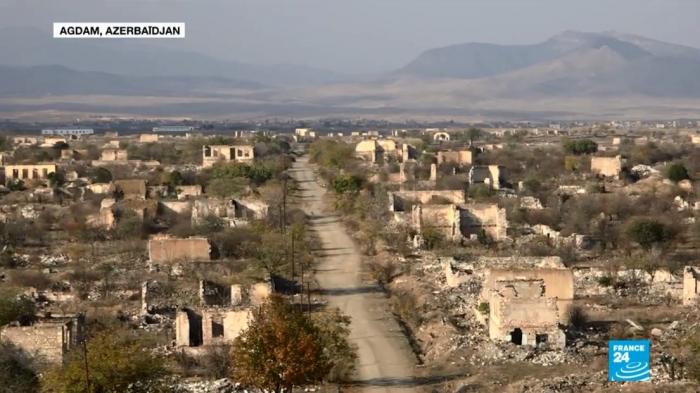 """""""Hiroshima del Cáucaso"""" - """"France-24"""" hizo un reportaje de Agdam -  VIDEO"""