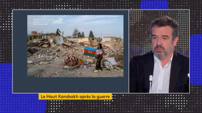 Régis Le Sommier parle de sa visite à Berdé et Gandja,touchés par des missiles ballistiques