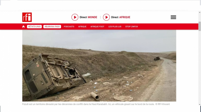 La radio francesa elabora un reportaje de Fuzuli