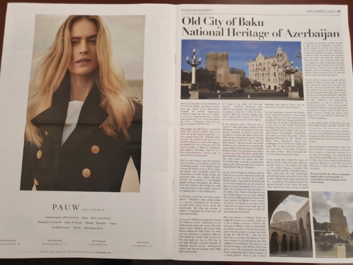 The Holland Times publishes article about Old City of Baku