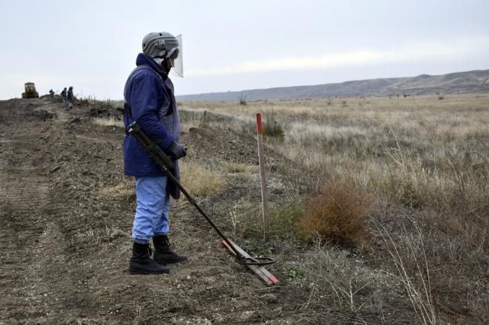الوكالة الوطنية لمكافحة الألغام لجمهورية أذربيجان   -80-85٪ من الأراضي المحررة خطرة