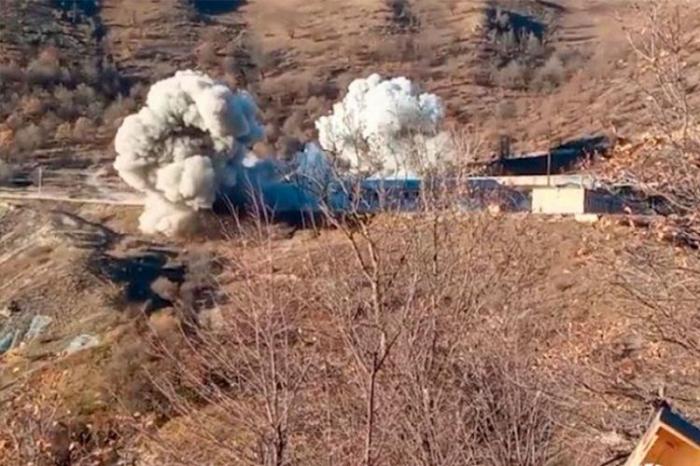 الأرمن يفجرون وحدة عسكرية في كلبجار -   فيديو