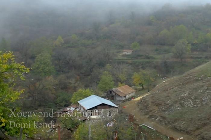 Xocavəndin işğaldan azad olunan Domi kəndi -  VİDEO