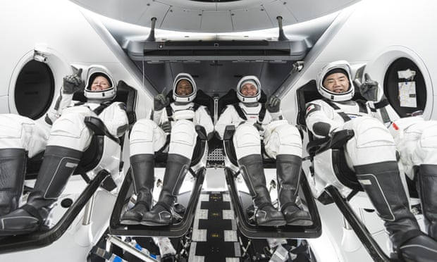 SpaceX Nasa launch:   astronauts head to International Space Station onboard Dragon capsule -   VIDEO