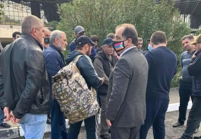 A group of mercenaries arrives in Karabakh from Abkhazia