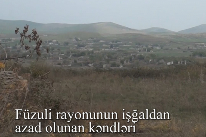 Video footage of liberated villages of Fuzuli region