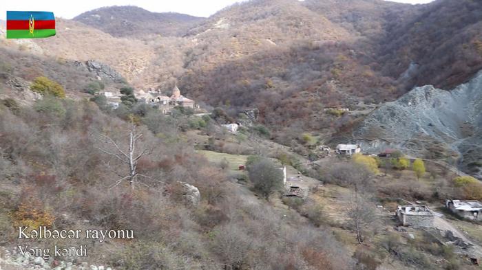 Kəlbəcərin Vəng kəndindən görüntülər -  VİDEO