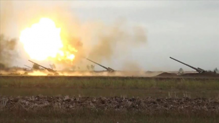 Armenian Army continues shelling Azerbaijan's residential areas & military positions