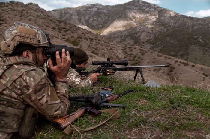Azerbaijan Army destroys Armenian sniper group - MOD