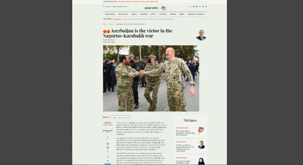 ARAB News publishes article on the Nagorno-Karabakh war