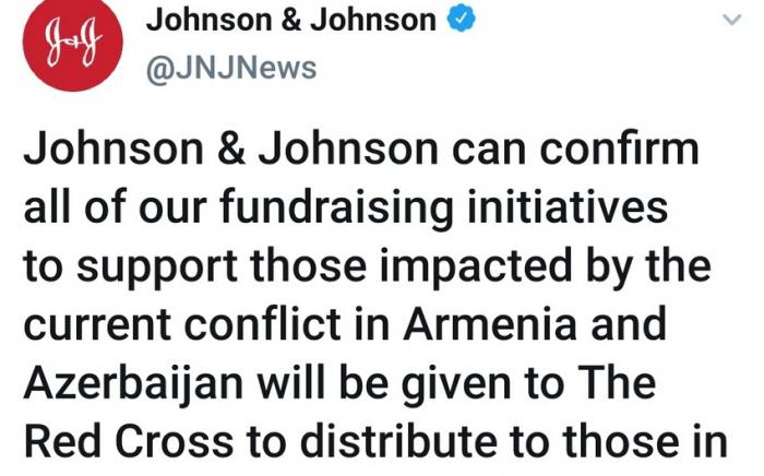 """""""Johnson & Johnson"""" etiraza səbəb olan paylaşımını sildi"""
